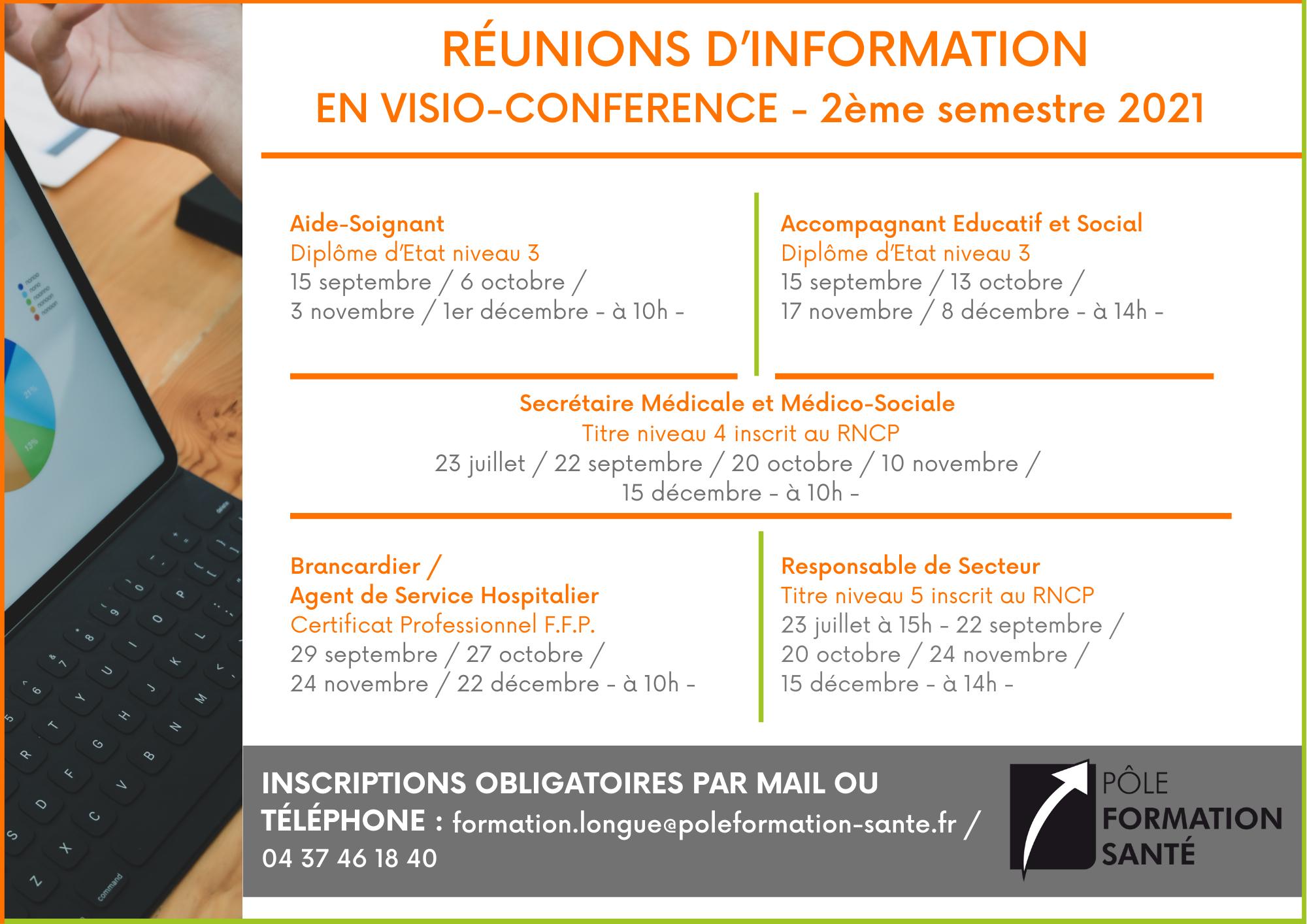 Réunions information PFS 2021